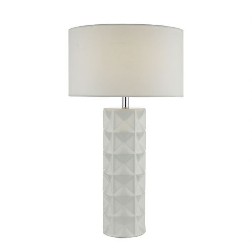 Gift Table Lamp White complete with Shade (Class 2 Double Insulated)